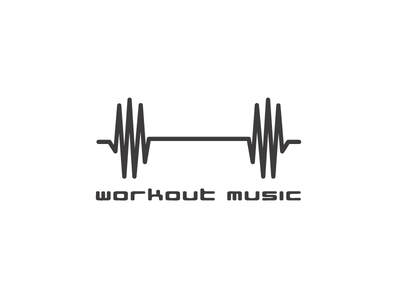 Workout Music wave sound workout barbell