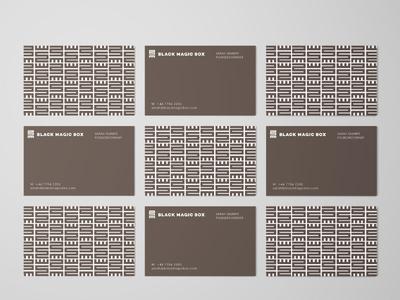 Business Cards Black Magic Box