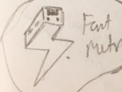 Train logo sketch