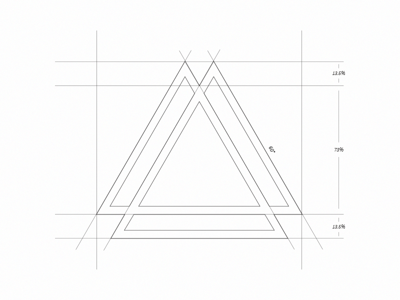 Equilateral-ness logo branding minimal