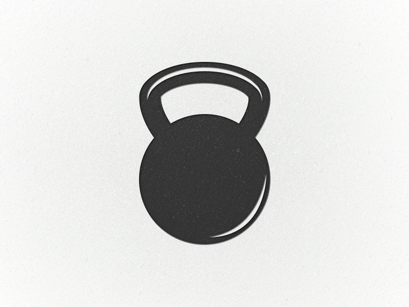 Kettle-con icon kettle bell fitness workout
