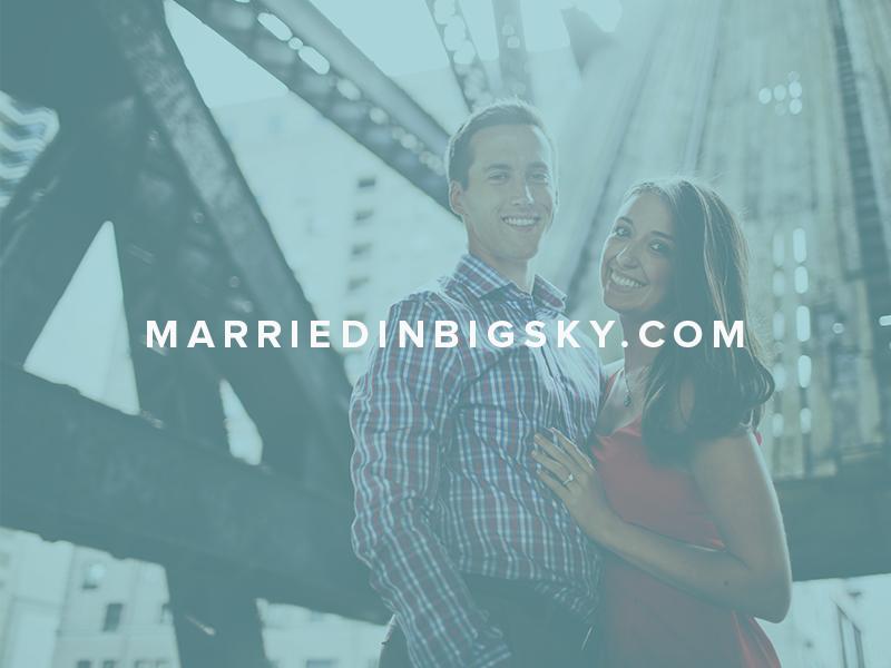 Married In Big Sky website wedding montana web design