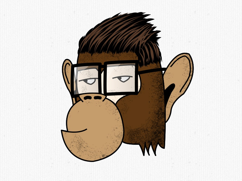 Brass Monkey illustration monkey