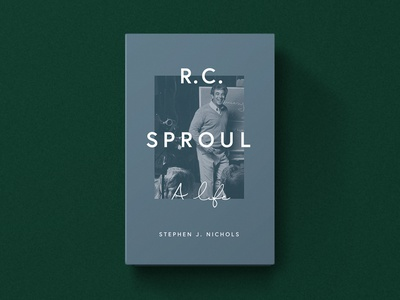 R. C.  Sproul: A Life photo classic green blue simple minimal church typography illustration design christian academic type chalk book biography