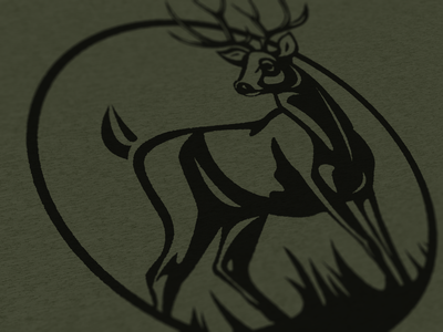 Whitetail Stag illustration/Shirt vintage cottonbureau tshirt shirt buck outdoors adventure mountains forest hunting deer whitetail stag minimal vector logo icon simple illustration design