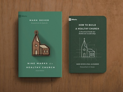 Nine Marks of a Healthy Church, 4th Edition blueprints 9marks workbook building build puzzle wood type minimal cross vector typography book simple church christian design