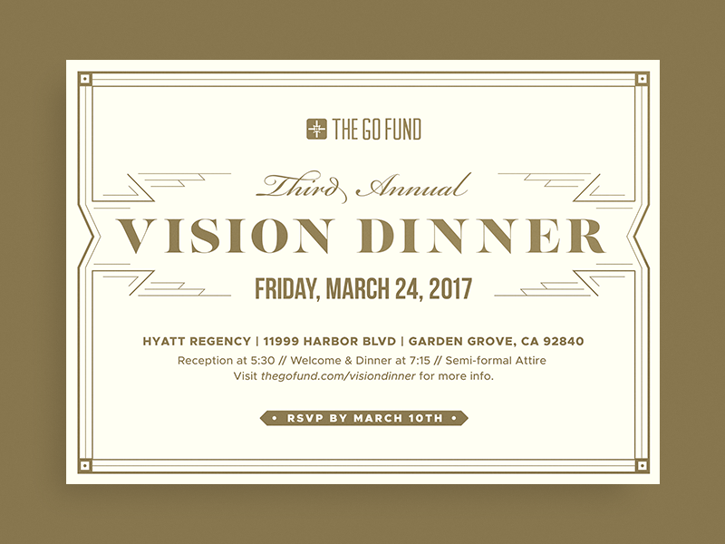 Vision dinner invitation by jordan daniel singer dribbble vision dinner stopboris Image collections