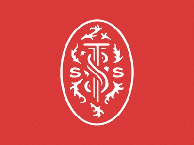 (SSST) Short Studies in Systematic Theology Mark mark vintage red book vector typography type simple branding minimal church illustration logo design christian