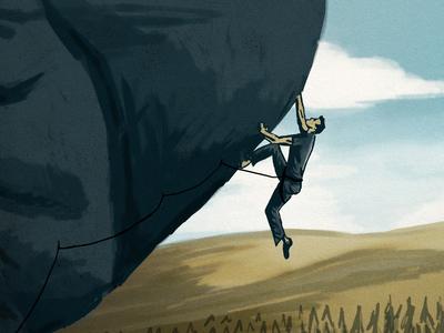 Climbing Illustration detail