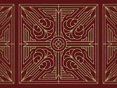 4 Winds Cross ribbon metal wings 4 winds wind classic stroke monoline maroon branding logo vector metallic cross gold icon church illustration design christian