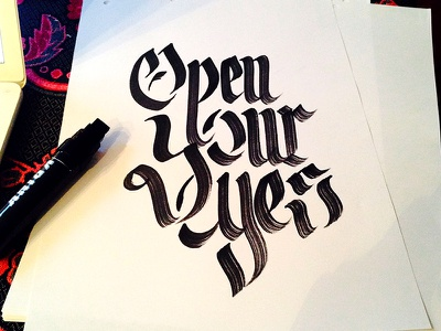 Open your eyes openyoureyes lettering hand type typography handwriting handtype blackandwhite letters calligraphy