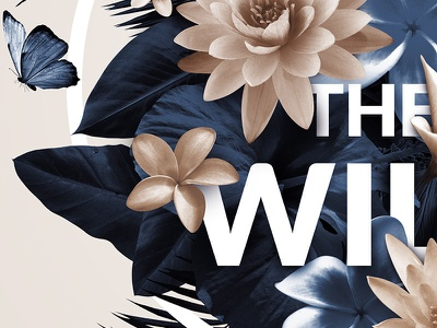 Into the wild typography nature circle floral intothewild palm type letters wild flower