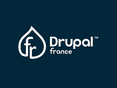 Drupal France logo drop brand logotype