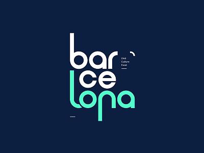 Barcelona typography letters type barcelona