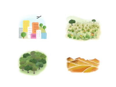 Habitat zoo icons