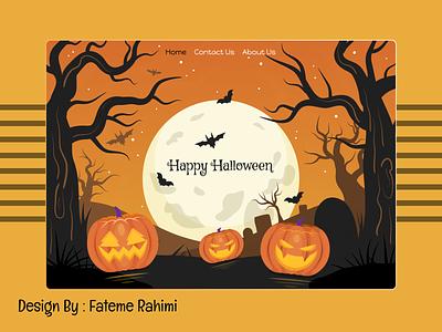 halloween designer design ai ps photo shop adobe xd xd figma halowen halloween shopping shop web app animation graphic design 3d ui
