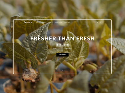 Farm.One / Home page animation webdesign web ny startup healthy food homepage principle motion graphics interection design animation ui