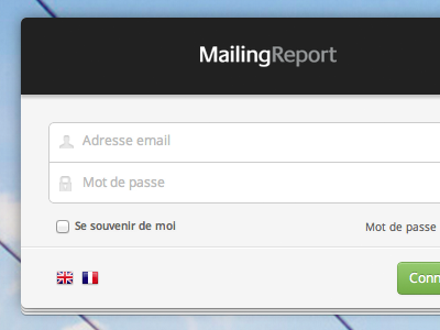 MailingReport login box login form button placeholder ui app input css3