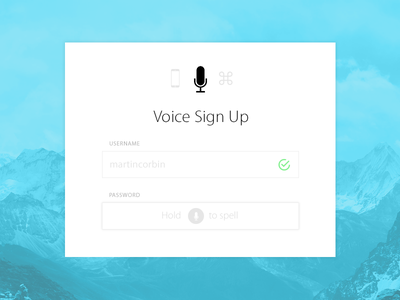 Daily UI #001 voice form up sign ui