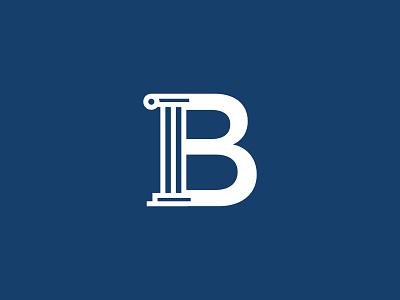Unused Lettermark column letter b lettermark logo mark unused