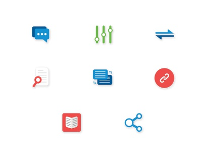 Custom Icon Set connect learn technology switch search translate manage communicate sketch vector custom icons