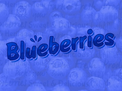 Something Sweet lettering type blue blueberry fruit