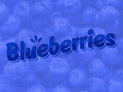 Something Sweet lettering type blue blueberry fruit