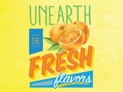 Fresh Type blue yellow orange fruit fresh type