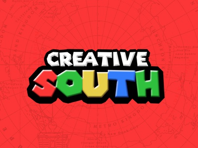 Super Creative South 2019 colorful typography logo mario brothers creative south
