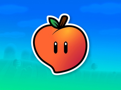Creative South Peach mario brothers video game sticker creative south