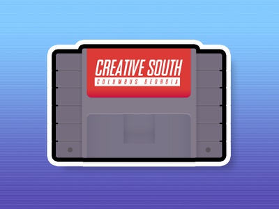 Creative South Cartridge sticker snes cartridge video game creative south