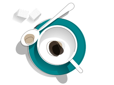Coffee thing mograph motion design offset clean black sugar shapes styleframes styleframe style frame mug coffee