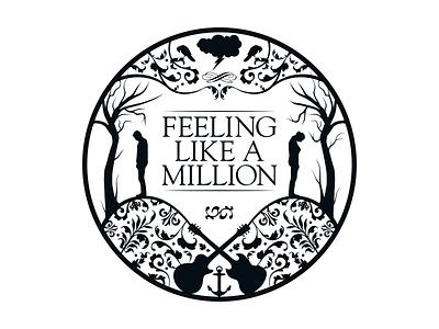 FEELING LIKE A MILLION branding silhouette berlin music band logo