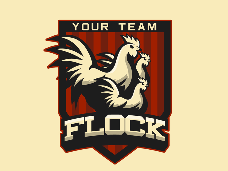 Flock logo design logo design logo twitch gaming marketing brand esports team sports