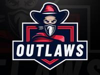 Outlaw Mascot Logo design