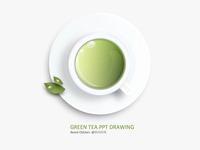 PPT DRAWING GREEN TEA