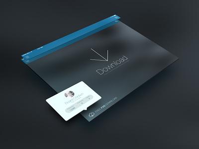 FREE PSD Ipadisplay Smart Layer  psd ios7 interface switch ppt dribbble icon ui app ios photoshop ai