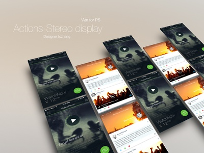 Actions-Stereo display.atn for PS ai photoshop ios app ui icon dribbble ppt switch interface ios7 ae