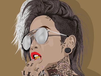 Vector portrait portrait illustration graphic design vector art