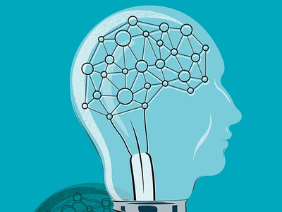 Strategic Inquiry illustration art illustration delegate intelligence lightbulb bulb thinkers thinker think management manager