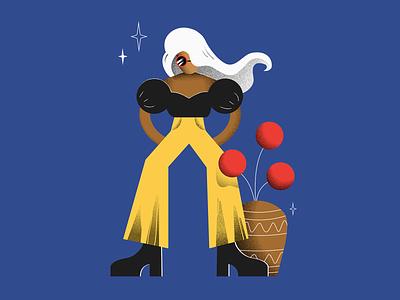 Girl in yellow grain texture posing fashion girl vector illustration design