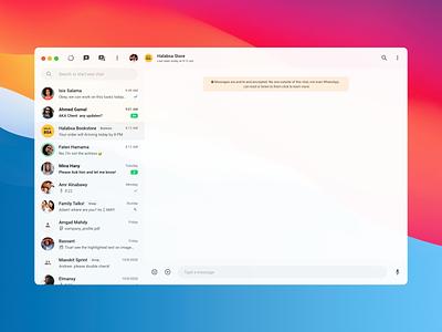 WhatsApp Desktop Refine dailyui refine retouch redesign whatsapp ui