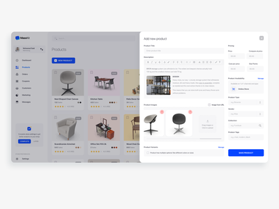 Add Product ecommerce dashboard products ux ui