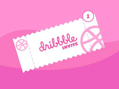 Invite. Invitation. Give you an invite graphic design invitation design vector illustration free giveinvite invitedribbble invite