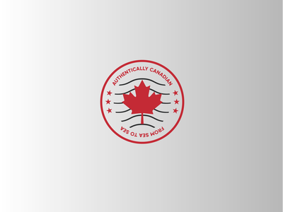 Authentically Canadian. Logo concept wave authentically canadian typography logo branding design vector illustration graphic design