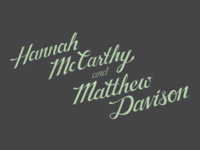 McCarthy & Davison Wedding Calligraphy