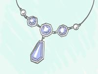 Sapphire Pendant Illustration