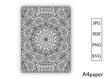 Mandala Coloring Book for Kdp Pages graphic design namaste svg