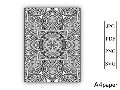 Mandala Coloring Book for Kdp Pages new