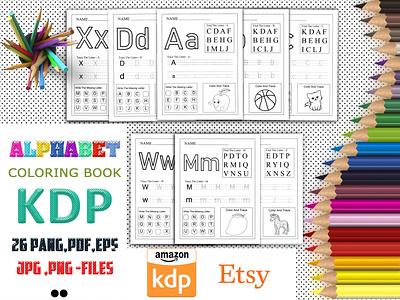 Kdp Alphabet Coloring Book alphabet coloring book graphic design alphabet handwriting kdp alphabet handwriting book cover fonts